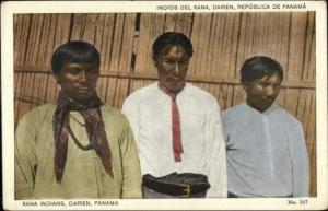Darien Panama - Native Indian Men c1915 Postcard