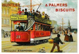 Post Card Advertising Victorian Tram Series  HUNTLEY & PALMER BISCUITS
