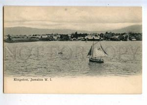 206476 JAMAICA KINGSTON view yacht Vintage postcard