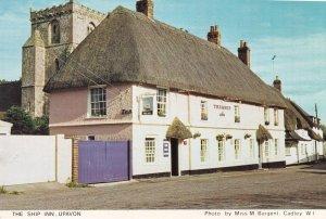 The Ship Inn Pub Upavon Wiltshire Postcard