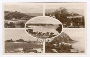 RP  Jersey, UK, 1910-30ss, 5-view, LIGHTHOUSE, Rozel,Gorey,Bonne Nuit, St Bre...