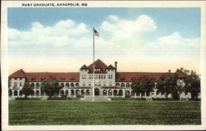 Annapolis MD Post Grad Bldg c1920 Postcard