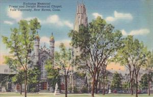 Connecticut New Haven Harkness Memorial Tower And Dwight Memorial Chapel