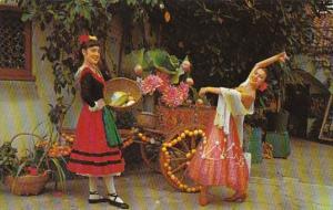 California Santa Barbara Old Spanish Days Fiesta Two Senoras In Costumes