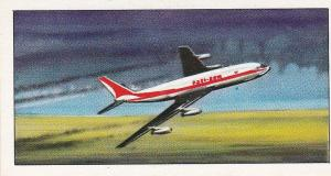 Trade Card Glengettie Tea International Air-Liners No 14 Boeing 707-120
