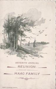 17th Annual Reunion Of The Haag Family 4 June 1895 Plain Township Stark Count...