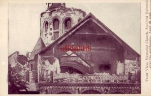 FRON TVIEW OF MEMORIAL CHURCH, STANFORD UNIVERSITY, AFTER THE QUAKE OF APR 1906