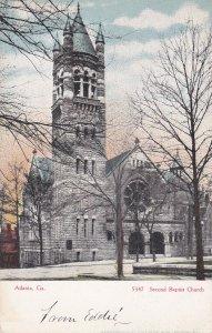 ATLANTA , Georgia, 1900-10s ; Second Baptist Church