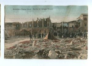 129641 Italy MESSINA earthquake Ruins of Military College OLD