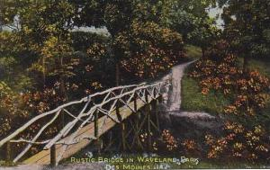 Iowa Des Moines Rustic Bridge In Waveland Park