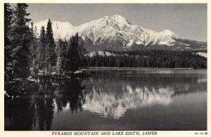 Canada Pyramid Mountain and Lake Edith Jasper Lake Forest Postcard