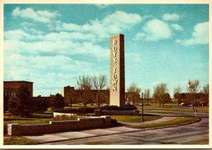 Nebraska Boys Town Pylon and Entrance