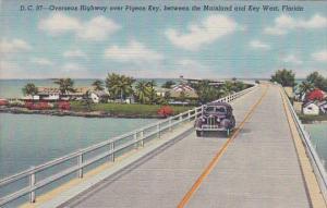 Overseas Highway Over Pigeon Key Florida Curteich