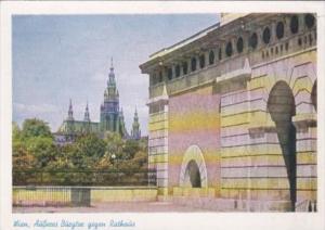 Austria Wien Vienna Aeuseres Burgtor Gegen Rathaus