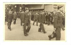RP; Parade of Men holding Lanterns, Liege, Belgium, 10-20s