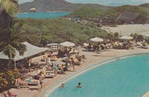 Swimming Pool & Sundeck of the Hilton Hotel, St. Thomas, Beretta Center, U.S....