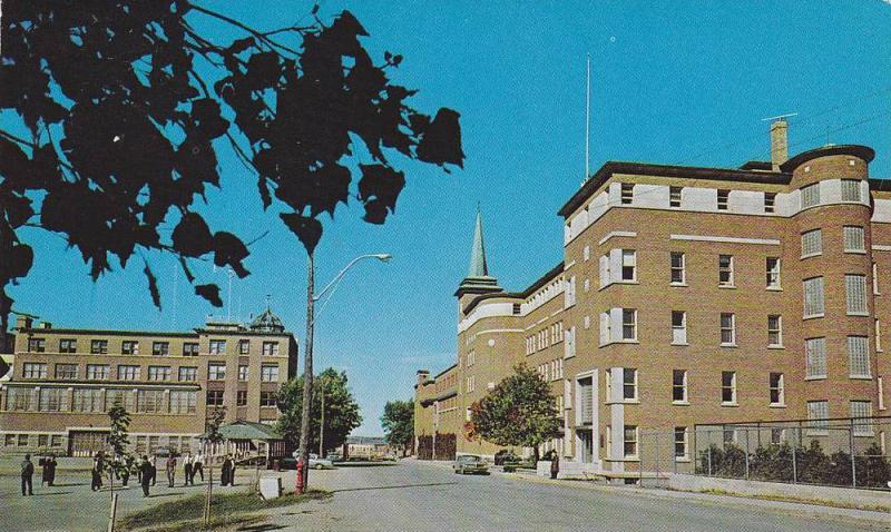 Street View, Exterior View of Business School and Navy School, Rimouski, Queb...