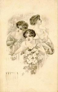 Three Lovely Ladies    Artist: H.A. Weiss