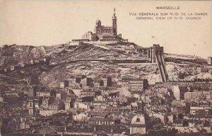France Marseilles Vue Generale Sur Notre Dame de la Garde