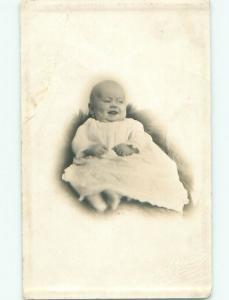 Pre-1918 rppc BABY LOOKING Studio In Columbus Ohio OH i9360