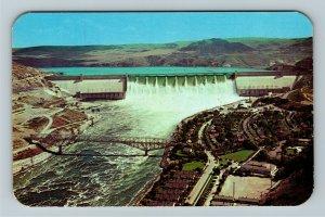 Crown Point WA- Washington, Grand Coulee Dam, Chrome Postcard