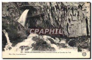 Old Postcard Baume les Messieurs Jura Entree and Cascades Gateway Tuffs