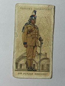 CIGARETTE CARD - PLAYER MILITARY UNIFORMS #21 INDIAN ARMY 8TH PUNJAB  (UU339)