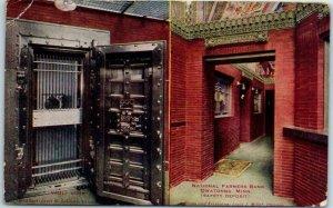 Owatonna, Minnesota Postcard NATIONAL FARMERS BANK Vault Interior View 1912