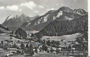 Switzerland Postcard - Rossiniere - Au Premier Plan L'Hotel Grand Chalet  TZ7670