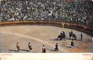 Picadores Tarjeta Postal Bullfighting Mexico Unused
