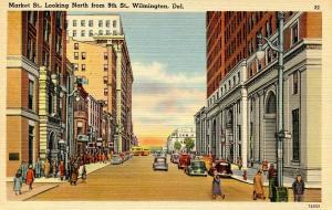 DE - Wilmington. Market Street looking north from 9th Street