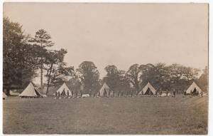 Bell Tents with Scout Troop or Cadet Group RP PPC, 1927 Bristol PMK
