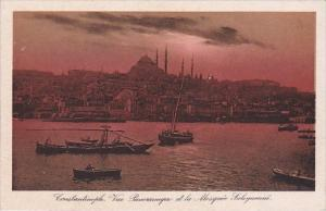 Turkey Constantinople Vue Panoramique et la Mosque Suleymanie