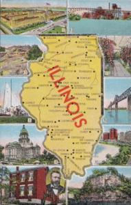 Map Of Illinois The Land Of Lincoln