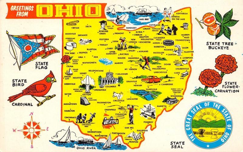 Ohio Map Houston Oak Hill Reds Indians Barbeton Carey Grafton Y