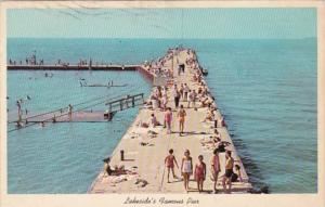 Ohio Lakeside On Lake Erie Famous Dock and Pier 1979
