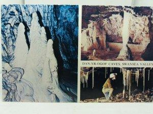 Vintage Multiview Postcard Dan Yr Ogof  Caves Swansea Valley  1970s