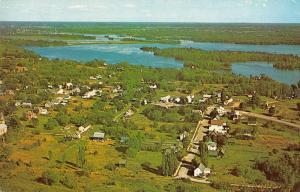 Newboro Ontario Canada Newboro Lake Birds Eye View Vintage Postcard JD228200