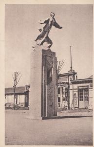 Nungesser Monument Lindbergh French Old Postcard