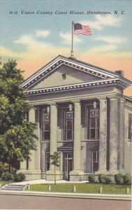 Vance County Court House Henderson North Carolina