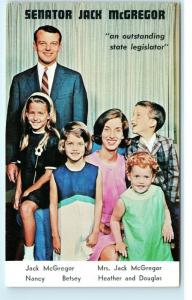 Senator Jack McGregor and Family Pennsylvania State 1962 Vintage Postcard D91