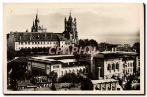 Modern Postcard Lausanne The Cathedral And I & # 39Universite