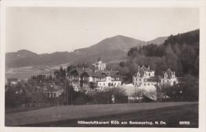 RP, SEMMERING (Lower Austria), Austria, 20-40s; Hohenluftkurort Kub Am Semmering