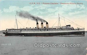 CPR SS Princess Charlotte Vancouver, Victoria Service Ship Unused