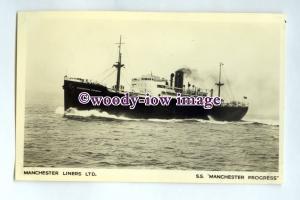 pf0136 - Manchester Liners Cargo Ship - Manchester Progress built 1938 -postcard