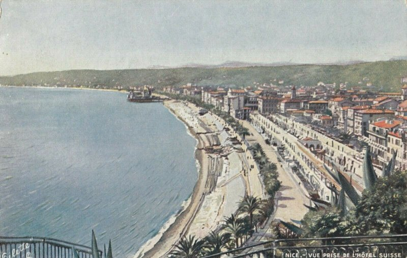 NICE, France, 1900-10s; Vue prise de L'Hotel Swiss , TUCK 761 P No 5