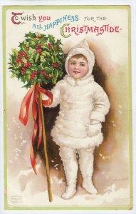 Ellen CLAPSADDLE: CHRISTMAS , Child in snow suit , 1900-10s #2