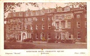 Scotland, UK Old Vintage Antique Post Card Roxburghe Hotel, Charlotte Square ...