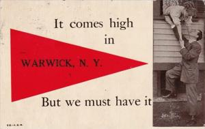 New York It Comes High In Warwick 1912 Pennant Series