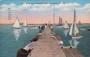 Yacht Basin In Washingto Park Michigan City Indiana 1944